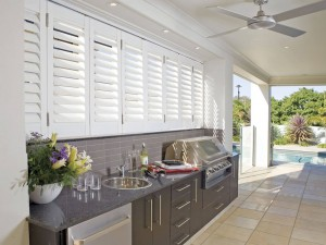 Plantation Shutters are a great soundproofing option.