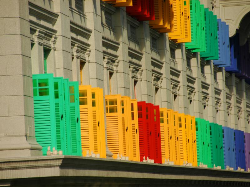 Coloured Plantation Shutters