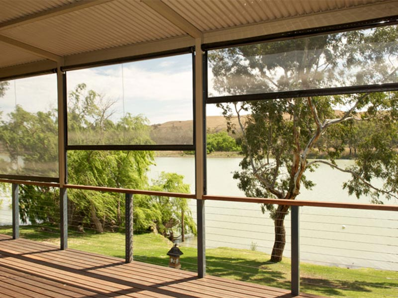 glass premium patio interior blinds bunnings awning image patios awnings big home roll zipscreen bamboo doors w up choice