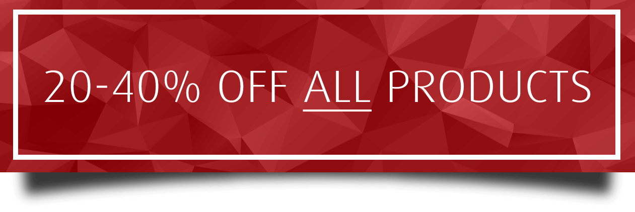 20% Off All Products!