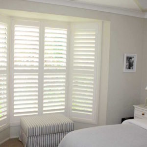 Plantation Shutter Bay Window Bedroom