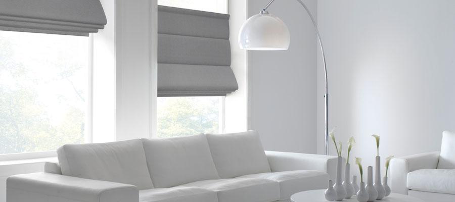 Subtl Contrasting Colour Blinds Against White Walls