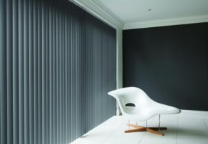 Blinds that match the wall colour give a modern feel.