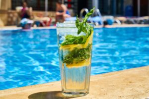 Summertime is for drinks by the pool.